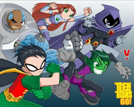 Teen Titans by bleedman