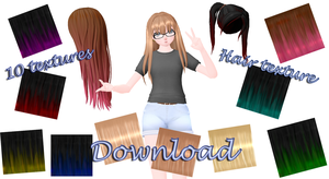 [MMD][DL]-Hair texture download! by LinMaro18