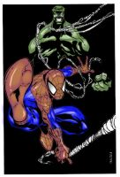 Spidey and Hulk by Bobbett by ToneyHadnotJr