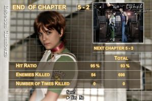 Resident Evil Zero mock results screen by Leonie-Heartilly