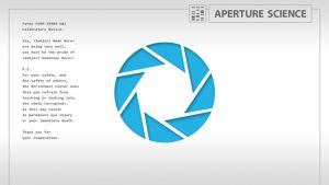 Aperture Science - Desktop by Orion5890