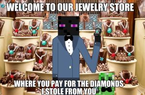 Enderman and Creeper Jewelry Store by IHeartCatz1