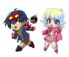 Chibi Simon and Nia by glance-reviver