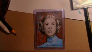 Princess Leia Sketch Card by AngelinaBenedetti