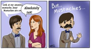 Mustaches are not cool? by Mad-Hattie