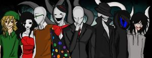 Slender Group by Alineoflies