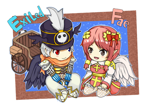 [Commission] Ragnarok Online - Chibi Exiled x Fae by Aruvian13