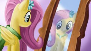 Mirror Fluttershy by ChupaCat