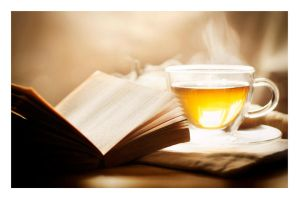 a good book and a cup of tea by hyouro