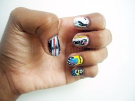 The Strokes CD Cover Nails by Shi-Cake