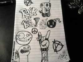 Another Rock N' Roll Doodle by combine345