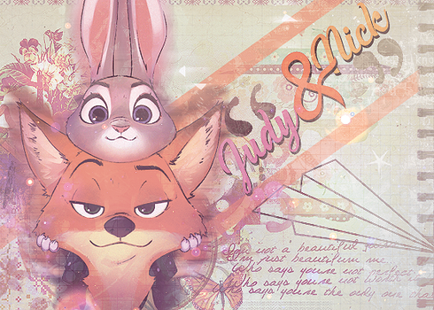 Zootropolis // Judy and Nick by xKarinchi