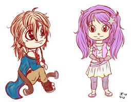 .LDR Chibi Sketches 1. by Melodious-X