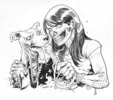 another dead girl and dog by cliff-rathburn