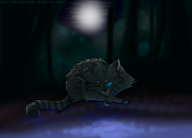 Jayfeather at moon pool by NonsensicalLogic