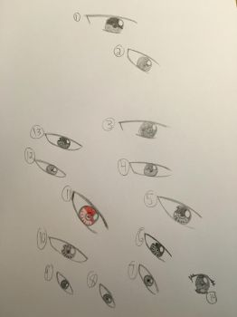 Eye practice and possibly a new style eye by Firestorm999