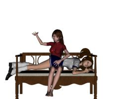 Naughty Girl Spanked 3 by PensSwitch