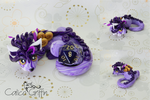 Blueberry Dice Cayo Dragon - polymer clay by CalicoGriffin