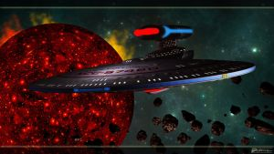 USS Columbia - Challenger Class Starship by MotoTsume