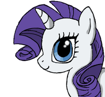 Rarity Headshot by jodiepikachu