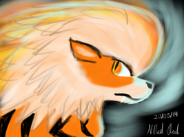Arcanine by The-Red-Owl