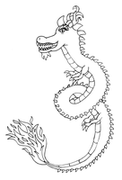 Dragon lineart by MikariStar