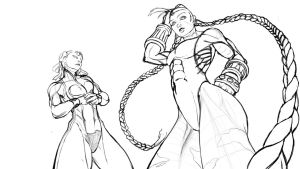 Cammy and Chun li Tag Team. Rough by mehdianim