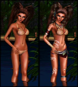 Before and After Closeup: Shrouded in the Jungle by SimmersaurusRex