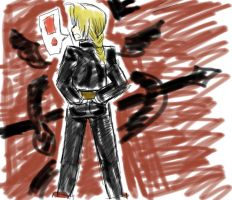 Edward Elric in Marker by Stina006