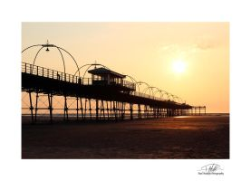 Southport Pier 4 - With border and sig by Paul-Madden