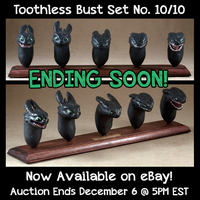 Toothless Bust Set 10, Auction Ending Soon! by emilySculpts