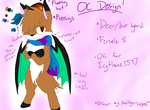 Custom O.C for Icyflame3547 by HailsynVulpes