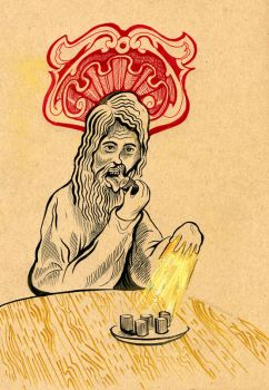 Jesus and the Magic Sushi by hyronomous