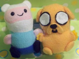 Adventure Time Finn+Jake Nugget People by SowCrazy