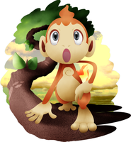 Chimchar and background by Ar-Bo