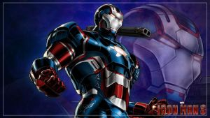 Wallpaper - IRON MAN 3 - Iron Patriot by doni-akira