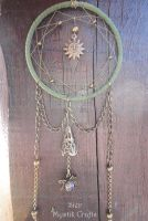 Tribal Sun Dreamcatcher Necklace by SierDreamS