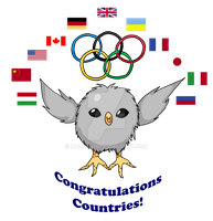 Gilbird Jr. poster - 2012 London Olympics by Maru-sha
