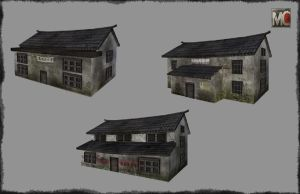 Rural China Houses Render by OmnicronEtheogen77
