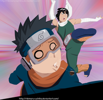 Obito And Guy by Rikimaru-Uchiha