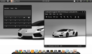 Screenshot of my acer aspire one gnome 3 desktop by Draco23hack