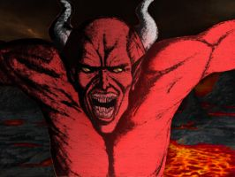 Demon in Hell by GaryRoswell007