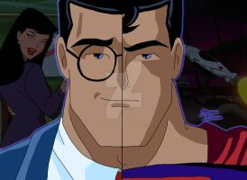 DCAU Duality - Clark Kent/Superman by OptimumBuster
