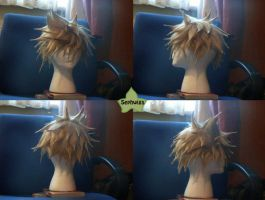 Wig Commission - Roxas by kyos-girl