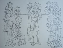 WIP Pencils 'The Last Supper' by jfkpaint