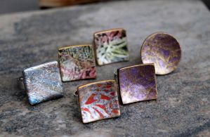 Polymer Clay Handmade Jewelry. Rings. by earthexpressions