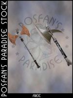 Battle Axes 001 by poserfan-stock