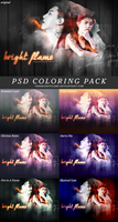 PSD COLORING PACK #1 by thebrightflame