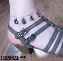 Hematite ankle chain by DombiHugi
