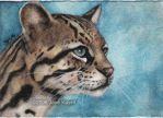 The Peaceful Ocelot by ArtistsForCharity